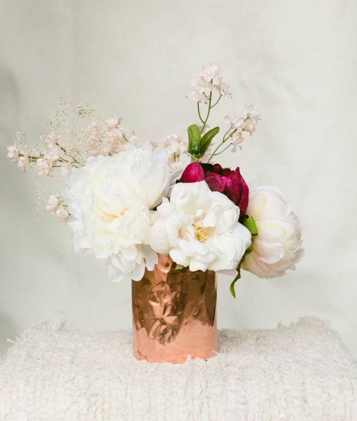 DIY Copper Wrap Vase