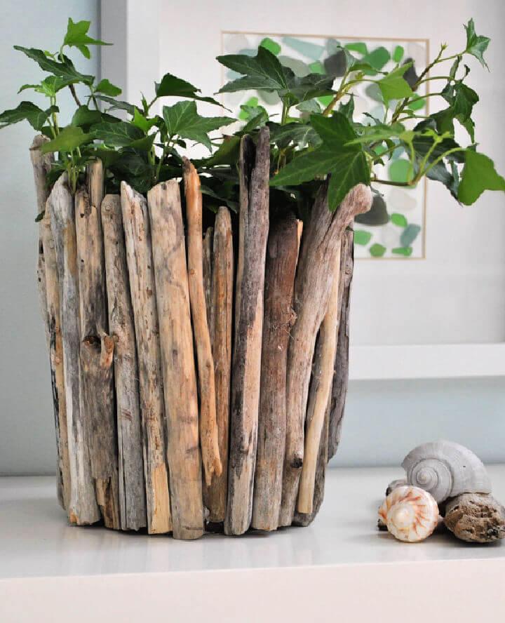 DIY Driftwood Pot