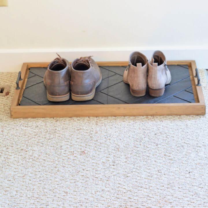 DIY Entryway Shoe Tray