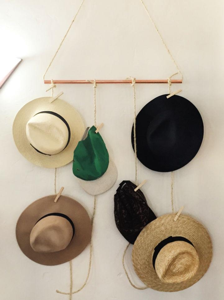 DIY Hanging Hat Rack