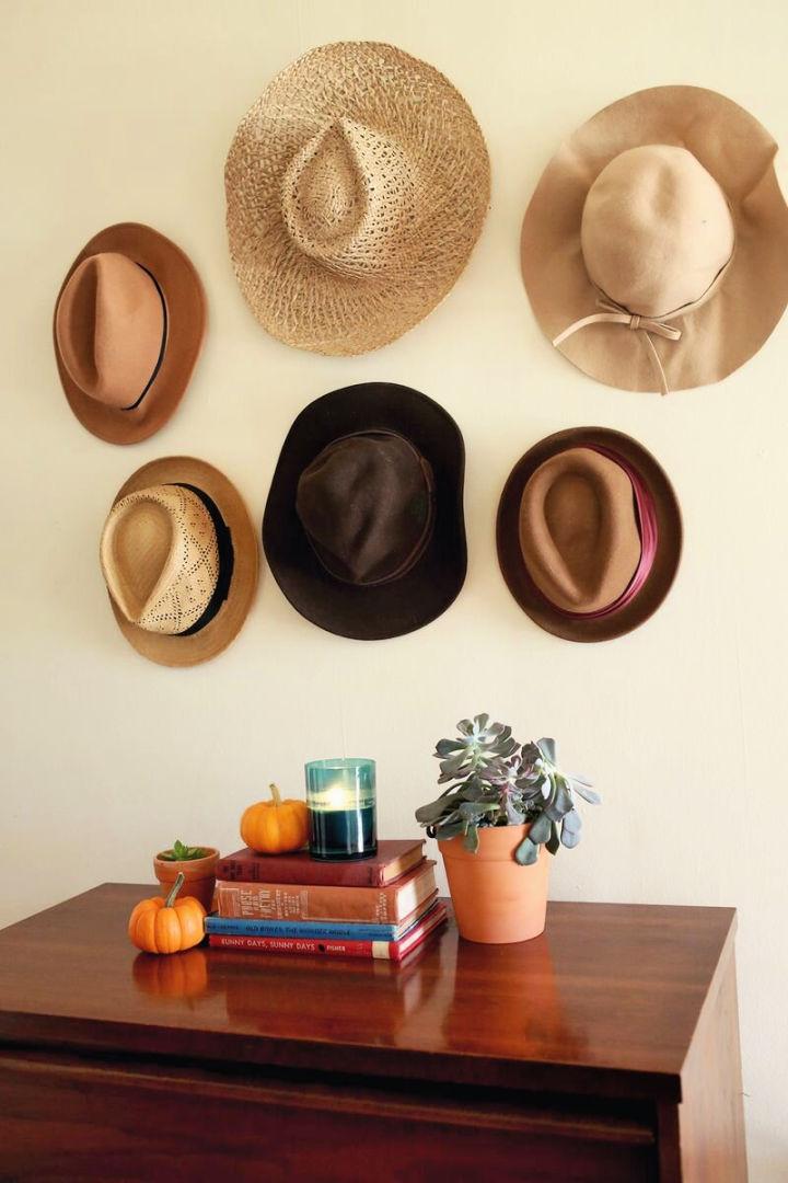 DIY Hat Rack Wall