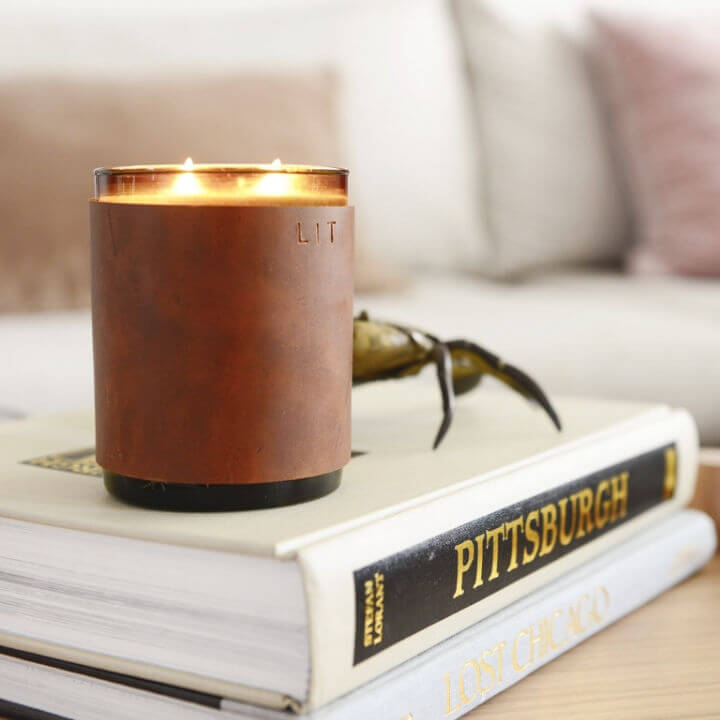 DIY Leather Candle Cozy