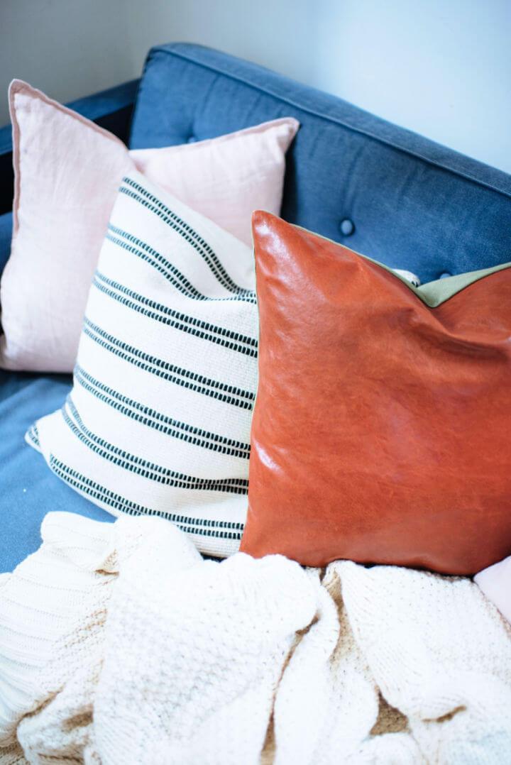 DIY Leather Cushion