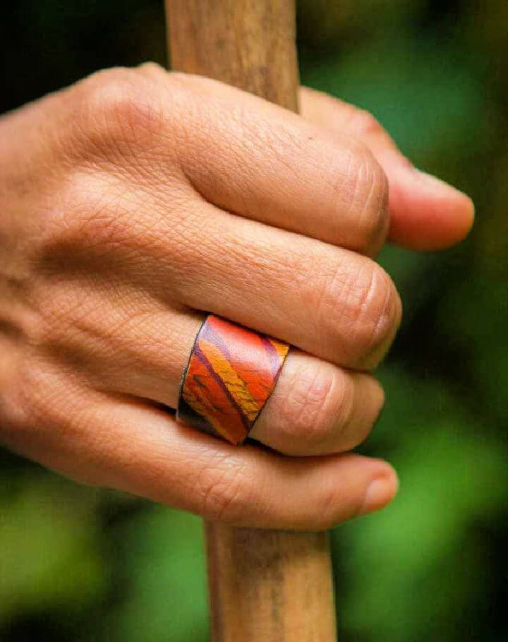 DIY Leather Ring