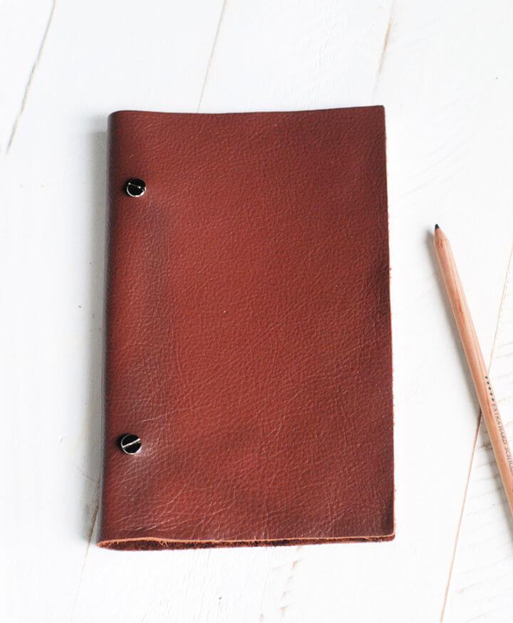 DIY Leather Sketchbook