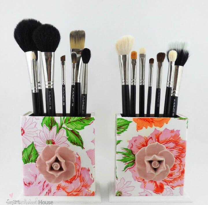 DIY Makeup Brush Box