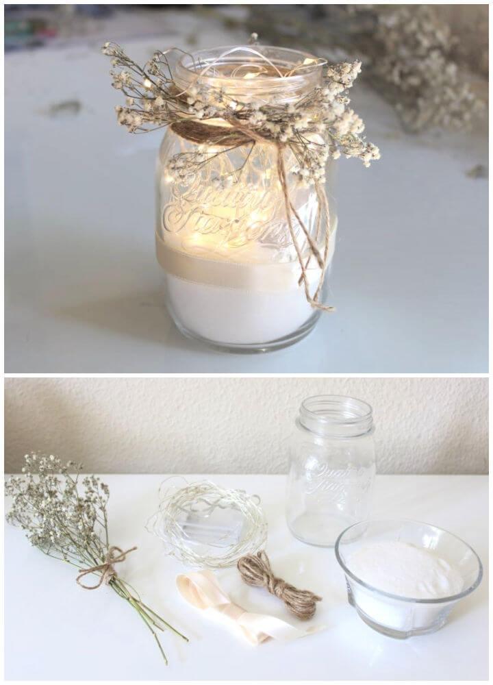 DIY Mason Jar String Lights