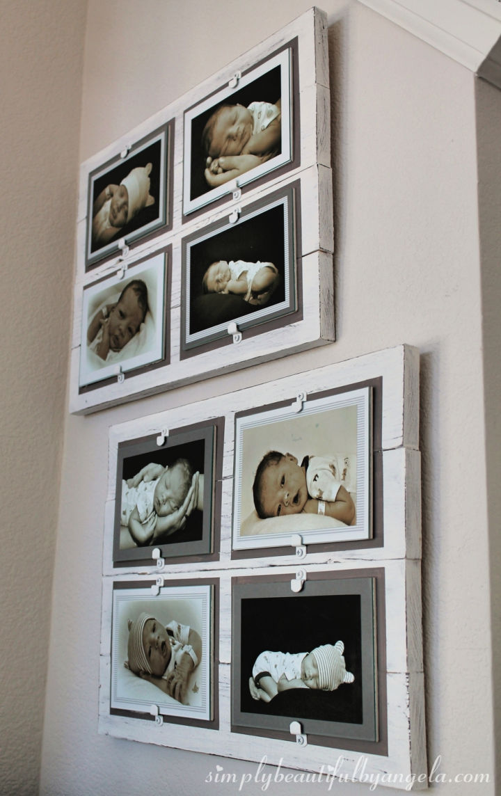 DIY Planked Photo Collage