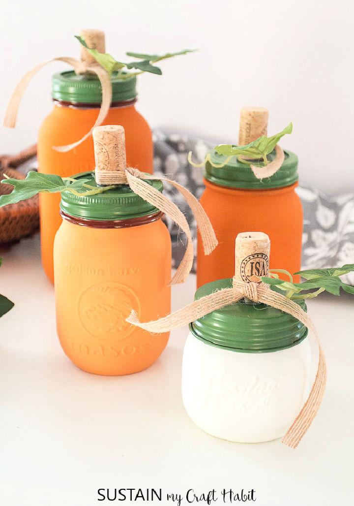 DIY Pumpkin Mason Jar