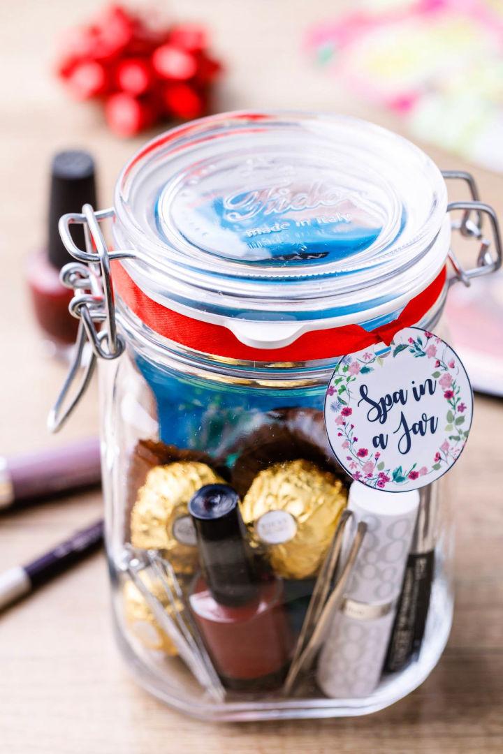 DIY Spa Gift Set in a Jar
