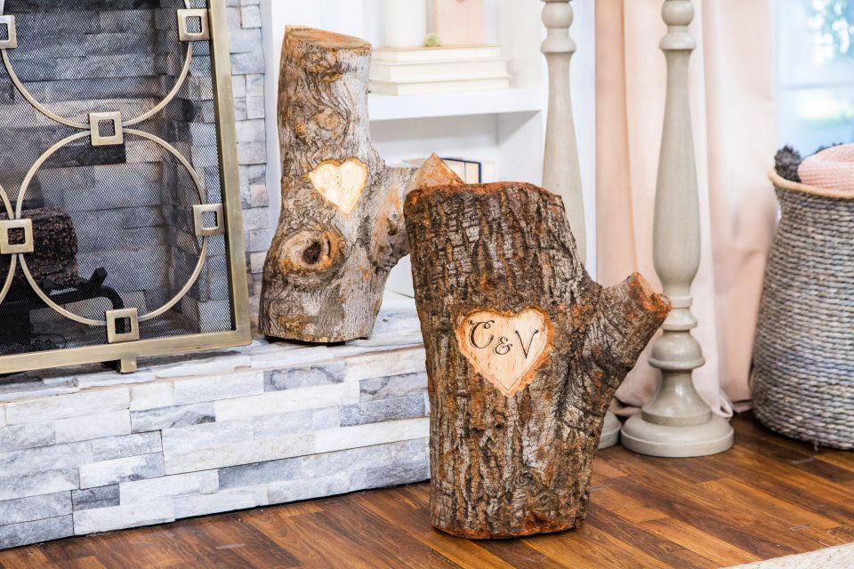 DIY Tree Stump Art