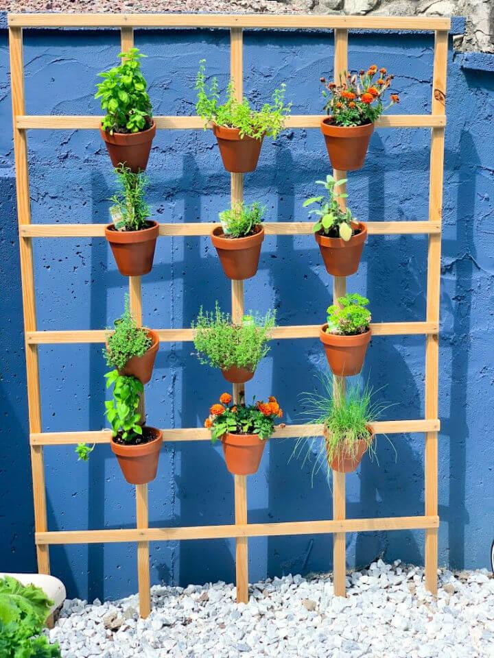 DIY Trellis Herb Garden
