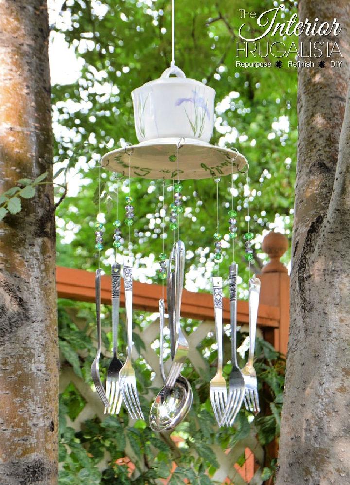 DIY Wind Chimes Silverware