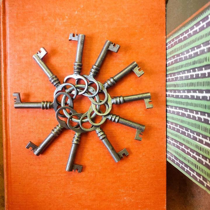 Decor Piece With Vintage Keys