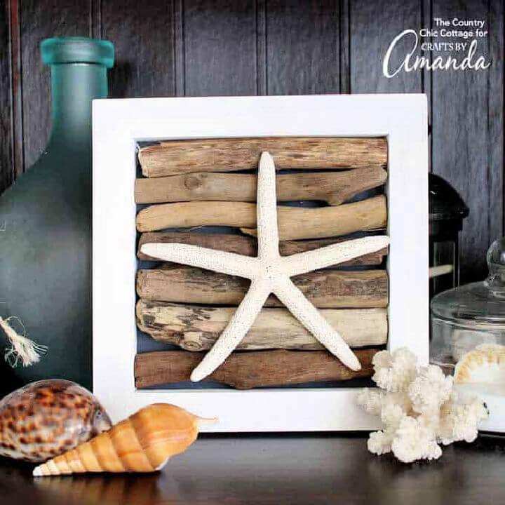 Driftwood Art with Starfish