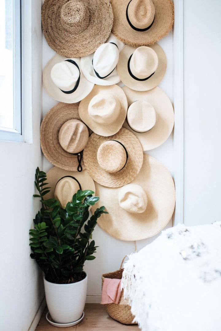 Easy DIY Hat Rack