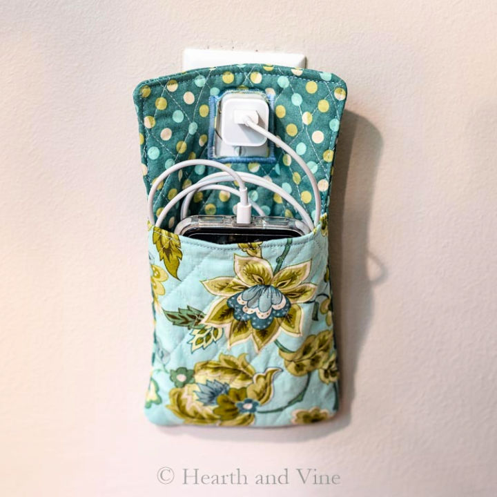 Fabric Phone Charger Holder
