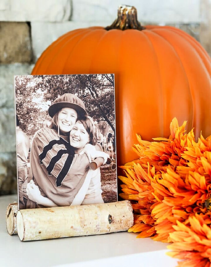 Fall Log Photo Frame
