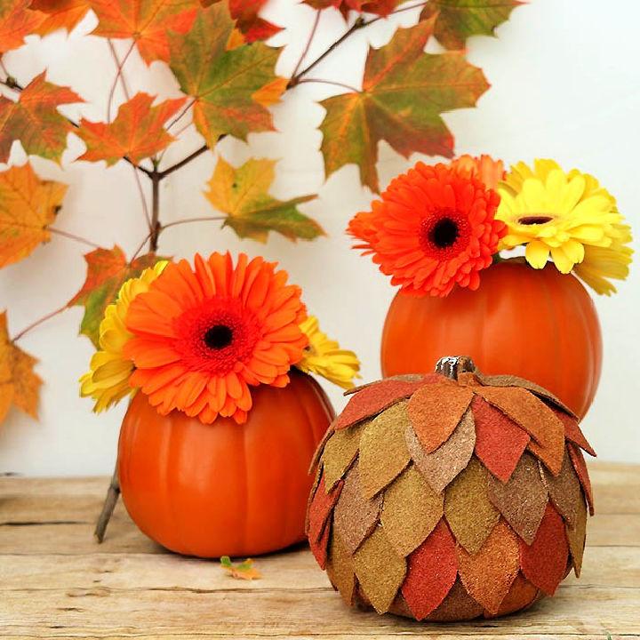 Felt Pumpkin Thanksgiving Centerpiece