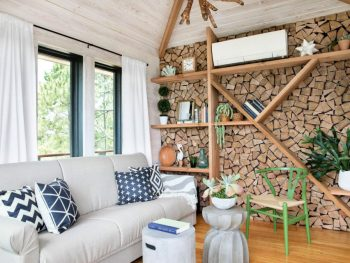 Firewood Accent Wall