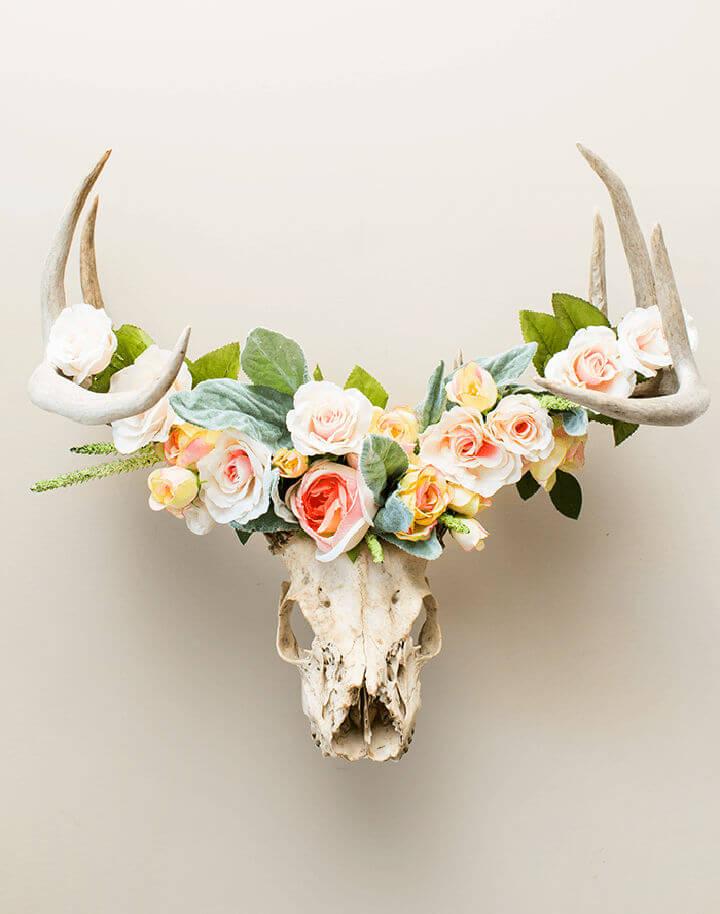 Floral Crowned Deer Head