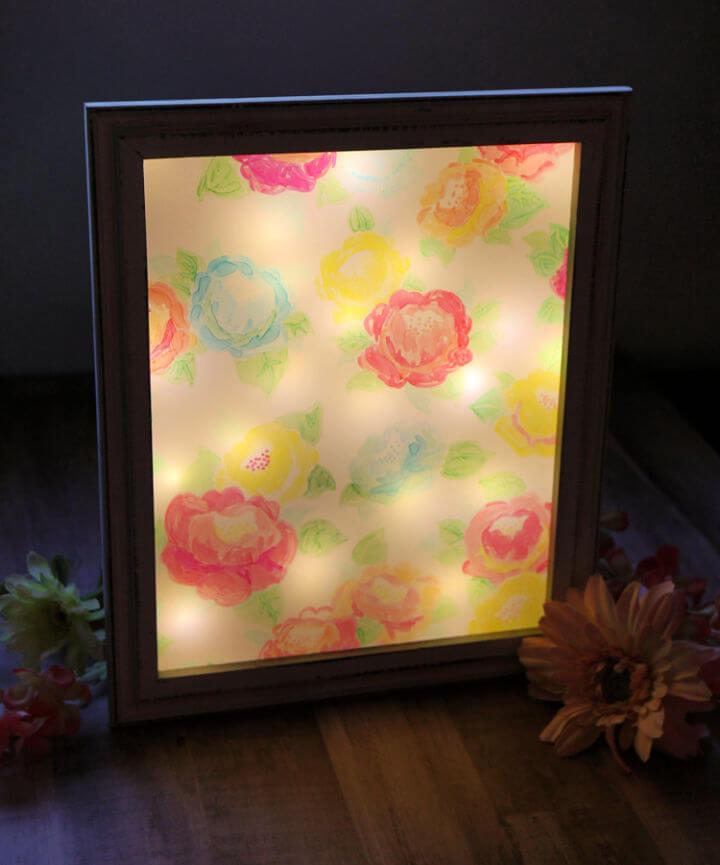 Floral Shadowbox Night Light