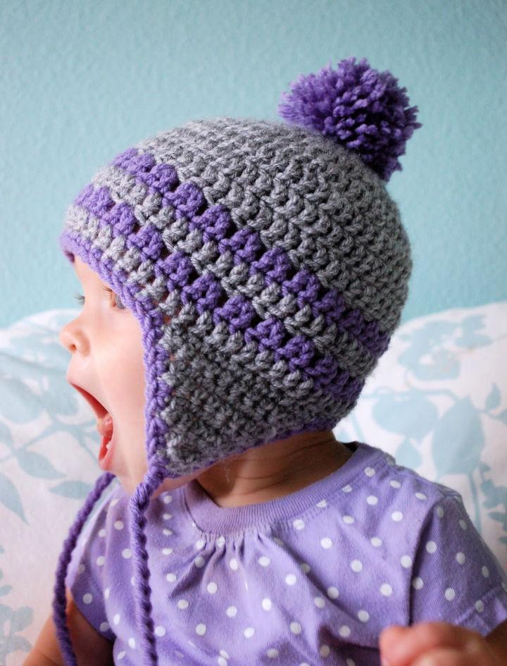 Free Crochet Earflap Hat Pattern