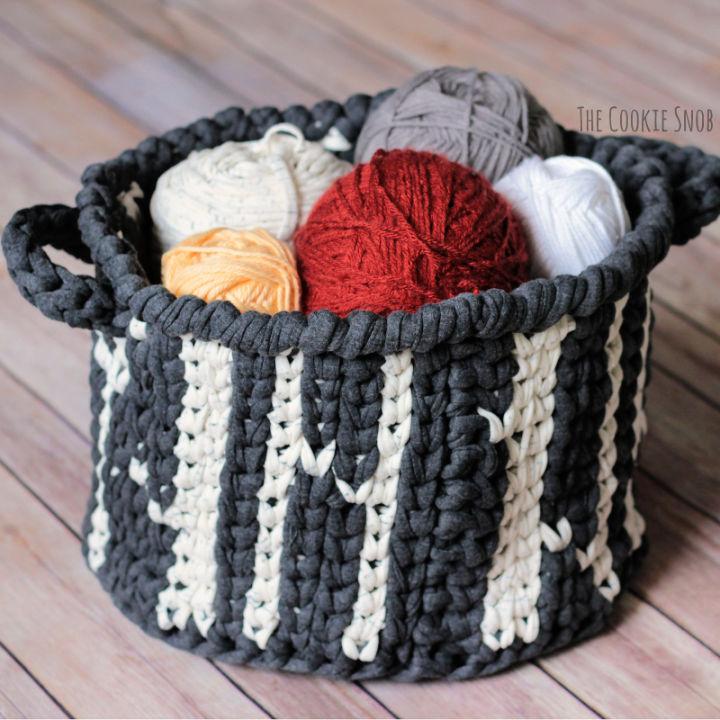 Free Crochet Forest Basket Pattern