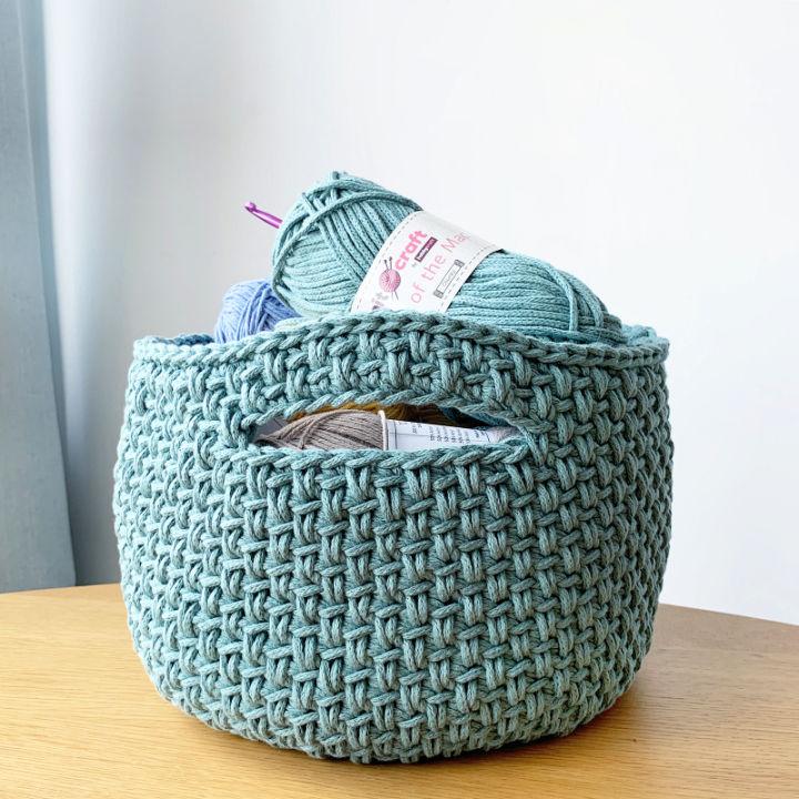 Free Crochet Spike Basket Pattern