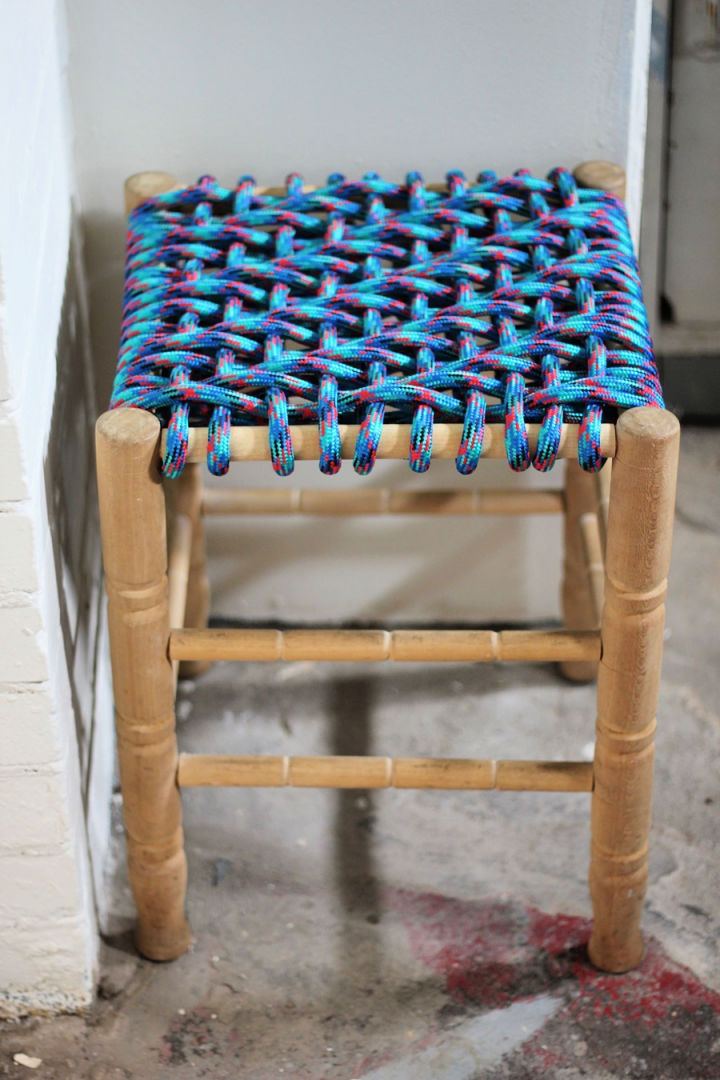 Funky Paracord Woven Stool