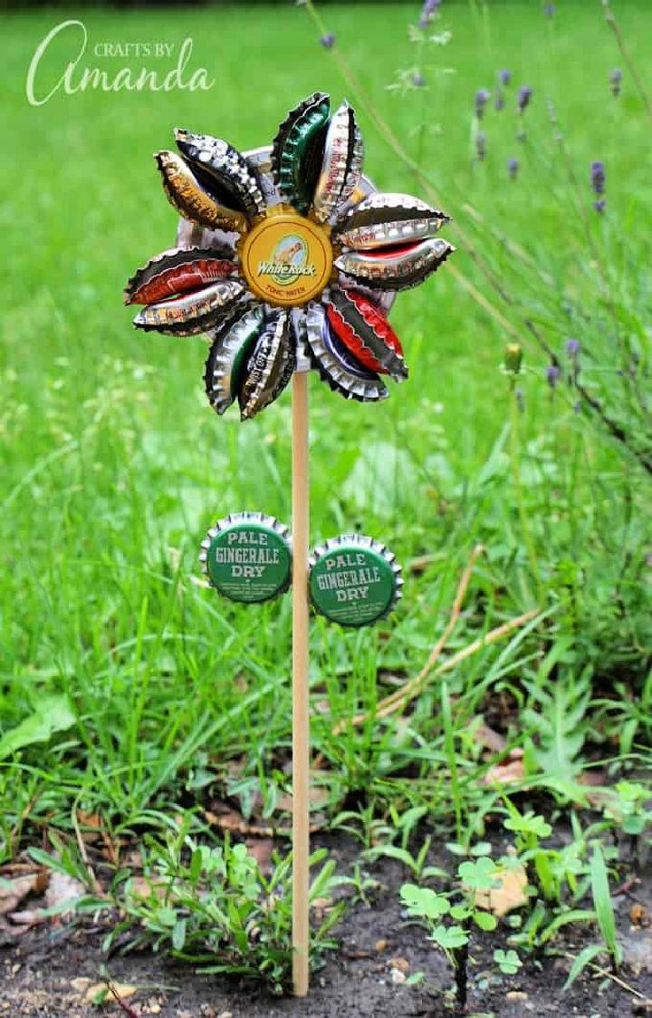 Garden Bottle Cap Flower