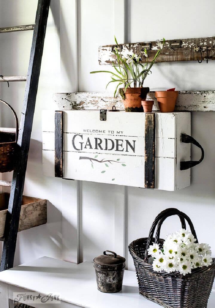 Garden Crate Entry Desk