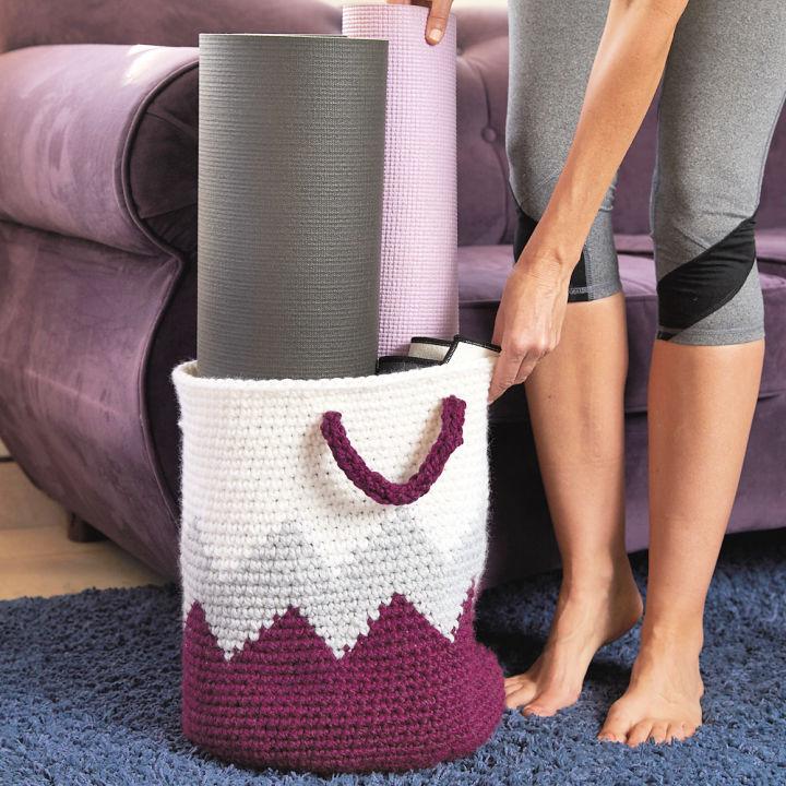 Geometric Basket Crochet Pattern