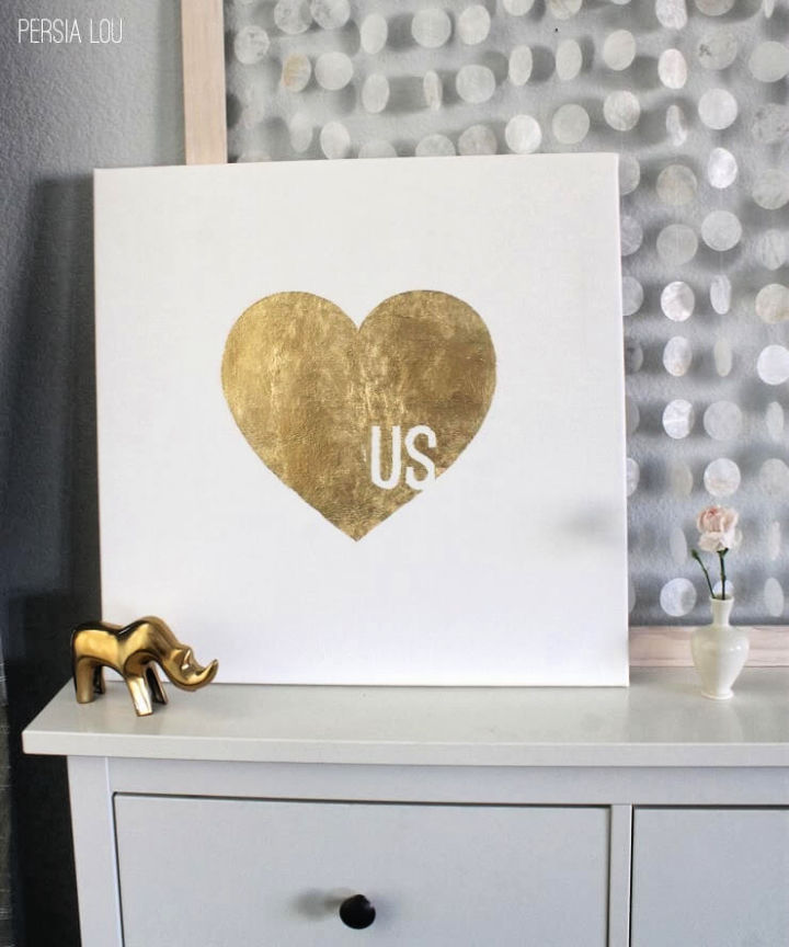Gilded Graphic Canvas Art