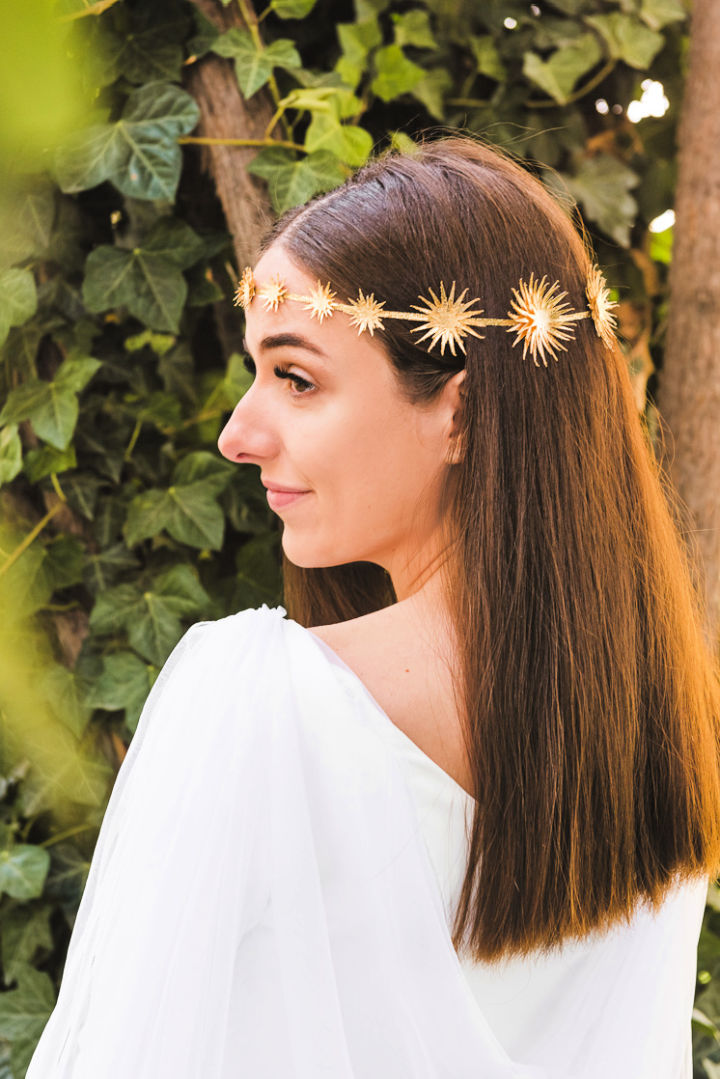 Gold Foil Star Crown Gift for Wife