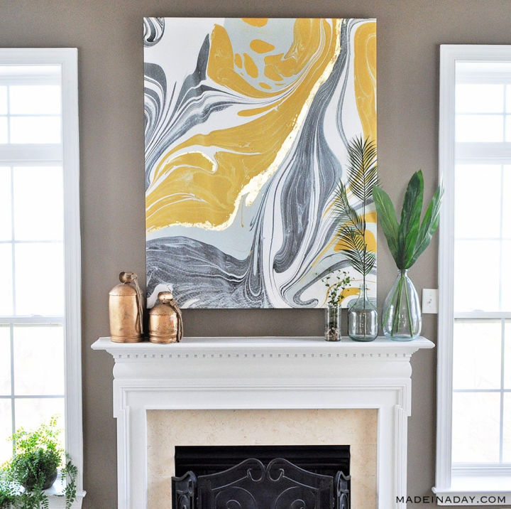 Gold Gilded Marble Canvas Art