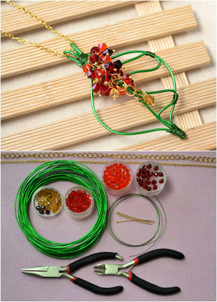 Green Leaf Pendant Necklace