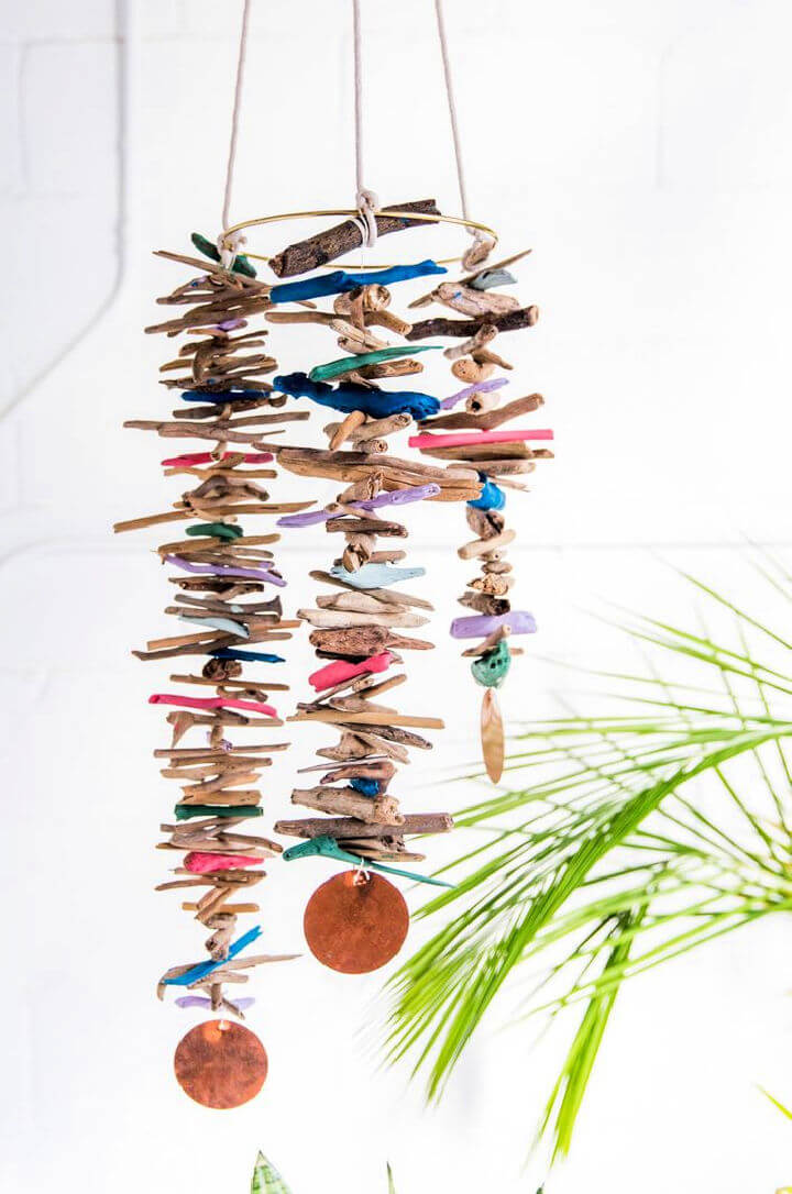 Hanging Mobile with Driftwood