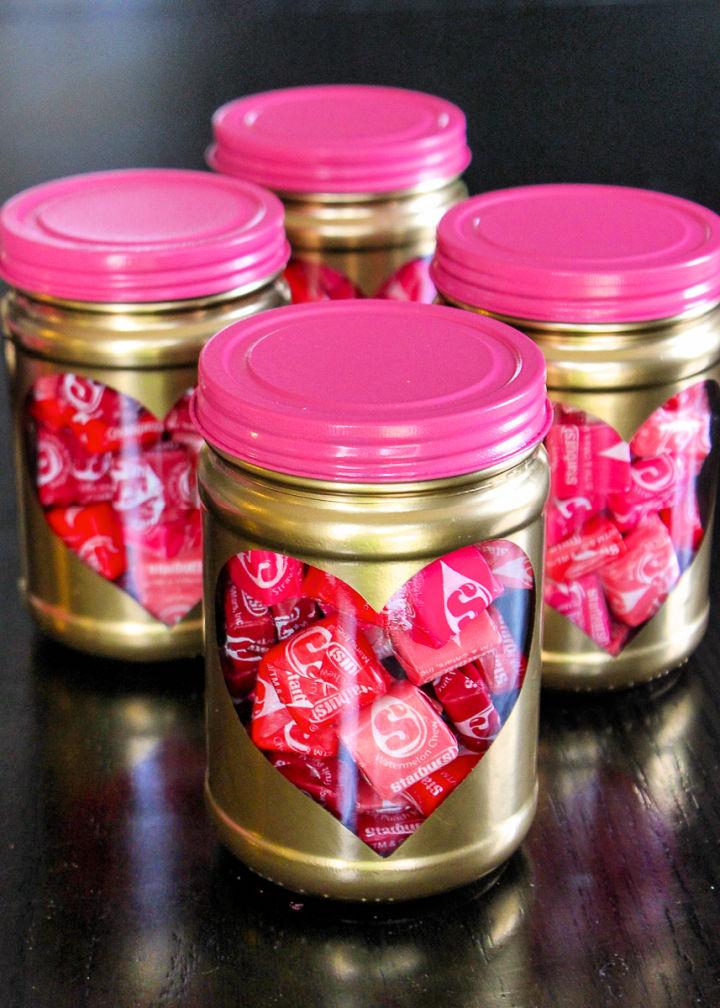 Heart Burst Valentine Treat Jars