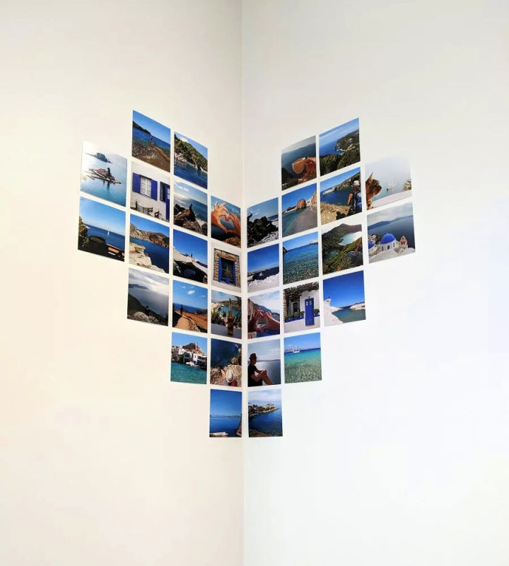 Heart Shaped Wall Photo Collage
