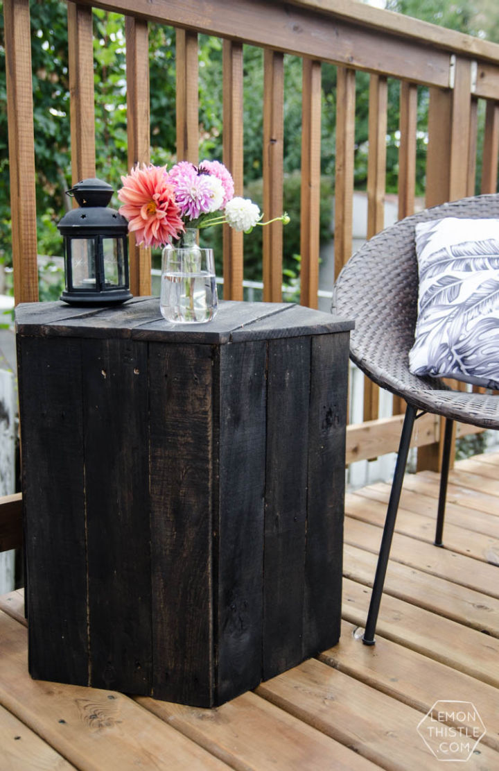 Hexagon Side Table with Pallet
