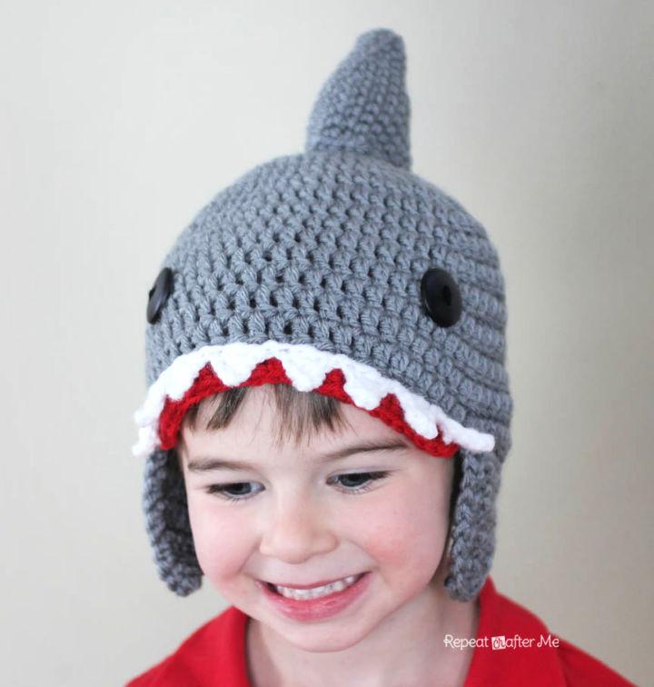 How to Crochet Shark Hat
