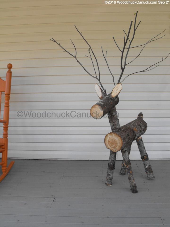 How to Make Log Reindeer