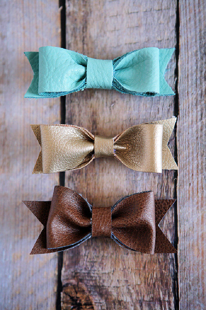 How to Make a Leather Hair Bows