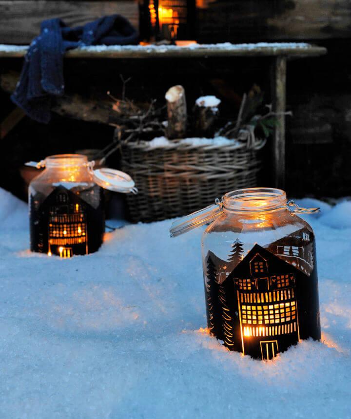 How to Make a Mason Jar Lantern