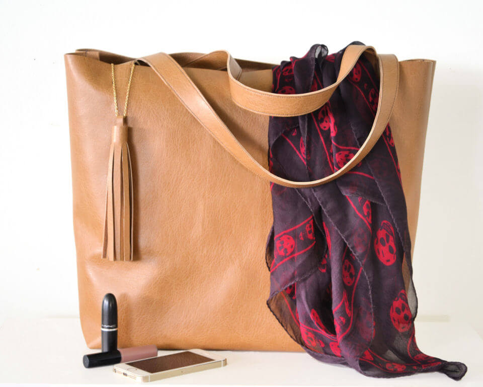 How to Sew Leather Tote