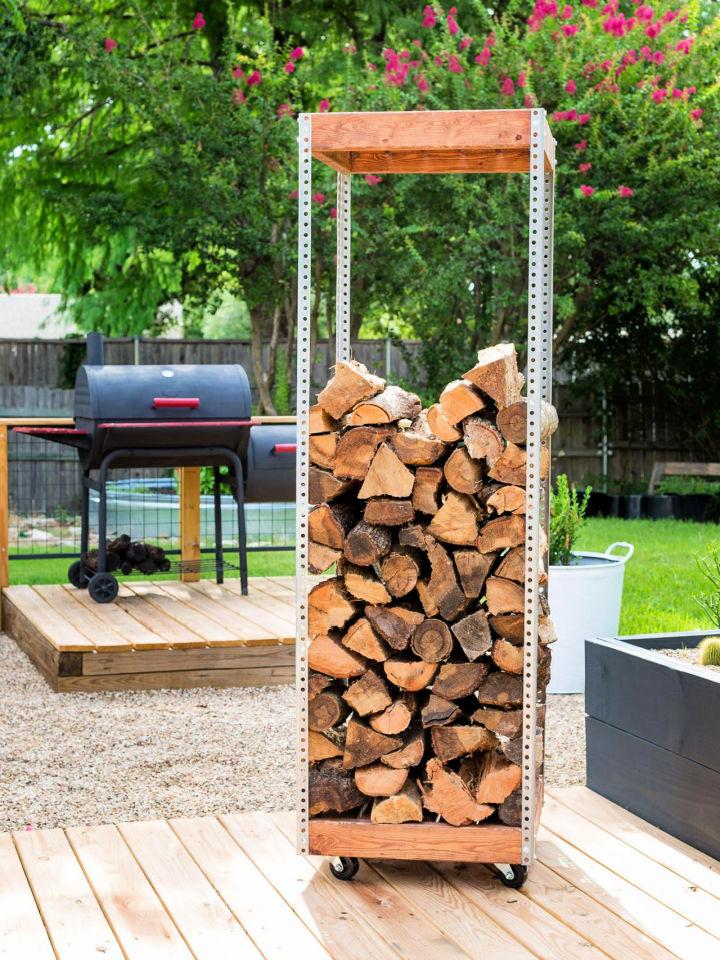 Industrial Style Log Rack