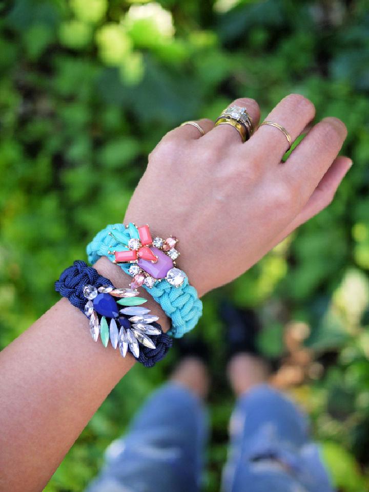 Jeweled Paracord Bracelet