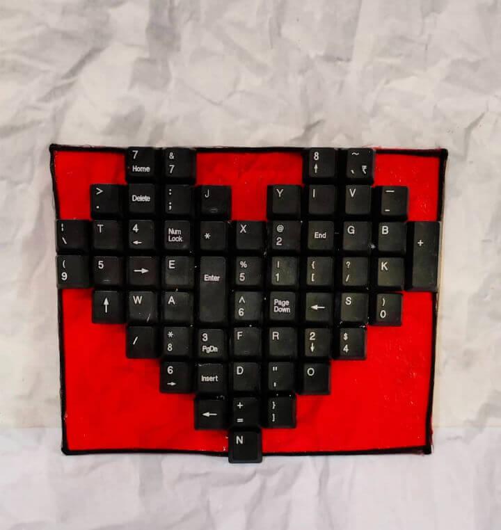 Keyboard Keys Heart Frame