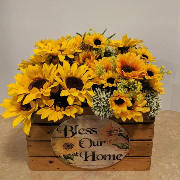 Kitchen Sunflower Centerpiece